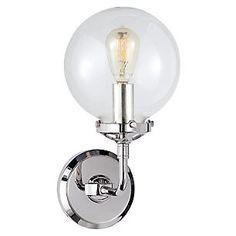 Bistro Single-Light Sconce, Polished Nickel