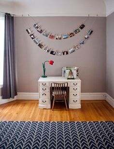 Another great idea for displaying photos.