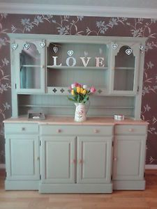 Refurbished DUCAL Pine Kitchen Dresser-Hand Painted in Farrow & Ball-French Gray