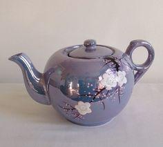 Vintage Cherry Blossom Tea Pot