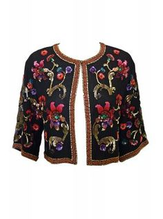 Embellished Matthew Williamson Opera Jacket with Floral Sequins