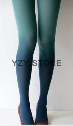 Green Gradient Tights