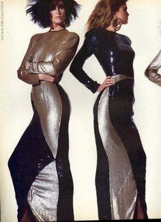 US Vogue September 1985 The Season Takes Shape at Geoffrey Beene - Photo Irving Penn