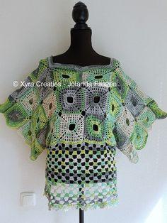 PATR1084 – Shirt / tuniek met wijde mouwen