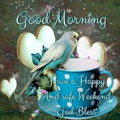 Good Morning Sister,have a happy  day and weekend too.God bless and keep you all safe.xxx