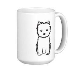Cairn Terrier Dog Cartoon Mug