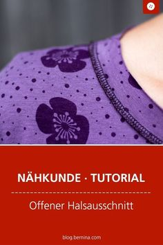 Nähkunde / Tutorials: Offener Halsausschnitt Informations About Offener Halsausschnitt im Coverlook Diy Sewing Projects, Sewing Projects For Beginners, Sewing Hacks, Sewing Tutorials, Sewing Patterns, Sewing Tips, Crochet Blanket Patterns, Crochet Stitches, Sewing Clothes