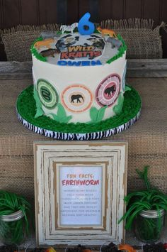 Check out this cake at a Wild Kratts birthday party! See more party ideas at CatchMyParty.com!