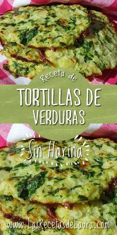 TORTILLAS ¡SIN HARINA! - TORTILLA DE VERDURAS Receta Saludable Facil y rapida para toda la familia