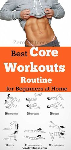 11 Best Core Workouts Routine for Beginners at Home- Get Flat Stomach, Lose Weig. 11 Best Core Workouts Routine for Beginners at Home- Get Flat Stomach, Lose Weight and Back Pain Re Core Workout Routine, Best Core Workouts, Workout Routines For Beginners, Easy Workouts, Workout Plans, Weight Workouts, Lifting Workouts, Workout Men, Lose Tummy Fat