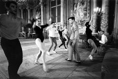 Loomis Dean—Time & Life Pictures/Getty ImagesNot originally published in LIFE. Gene Kelly rehearses with ballerina Claude Bessy and other dancers, Paris, 1960