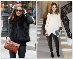 olivia palermo, hermes, clutch, brown, leather