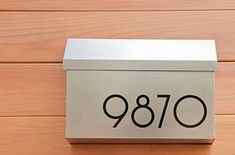 30 Home ideas:  Replace your old house numbers with modern fonts and put them on the mailbox. This is a great idea!