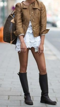 Wellies + Lace