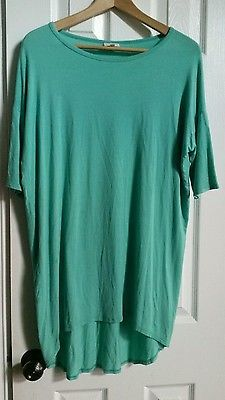 Grey LuLaRoe Irma Tunic Size XXS mint color