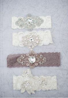 Jewelled Garters / Wedding Style Inspiration / LANE (instagram: the_lane)