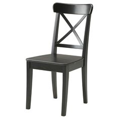 INGOLF Chair - brown-black - IKEA