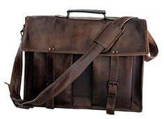 ArtandCraft - Satchel, Leather Laptop Messenger bag, Briefcase, Crossover 16 inch Shoulder Bag