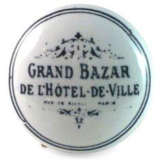 Bouton de Meuble Grand Bazar de l'hotel de ville