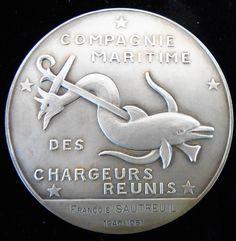 France 1931 Venus Sea Horse Dolphin Large Silver Art Deco by Bazor | eBay