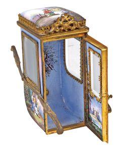 A Viennese ormolu and enamel sedan chair - Wien 1870 Lot 251