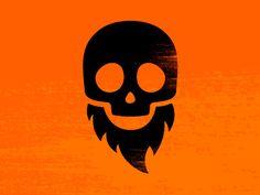 Happy Bearded Skull // James White