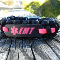 Pink EMT 550 Paracord Bracelet How To Size- Wrap a strip of paper or string around your wrist - mark where the ends overlap comfortably. Measure that against a ruler to the nearest 1/2 inch. Please do
