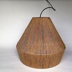 RETRO STRING SHADE MODERN JUTE STYLE PENDANT BUNGALOW LAMP OR TABLE LIGHT