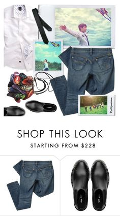 """Jeon Jungkook / Papillon / BTS concept photos"" by the92liner on Polyvore featuring Pendleton and Miu Miu"