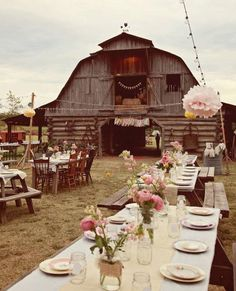 This an excellent venue for a western wedding! The barn is the perfect backgroun… This is an excellent venue for a western wedding! The barn is the perfect background. Farm Wedding, Wedding Tips, Wedding Reception, Dream Wedding, Wedding Day, Wedding Photos, Wedding Stuff, Chic Wedding, Wedding Tables