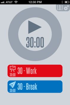 30/30 ($0.00)    Timer app that helps you get stuff done!    You set up a list of tasks, and a length of time for each of them. When you start the timer, it will tell you when to move on to the next task.    That's it!    The main screen is completely free of buttons; you use gestures instead.    The display is minimal but attractive and it still shows you everything you need to know:  - What am I supposed to be doing right now?  - How much time do I have left to do it?