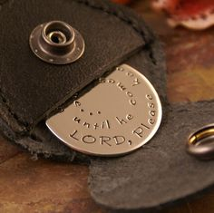 The sweet prayer on a small item like that just warms my heart. I am very close to my parents so I could see giving something like this to my father. Maybe the small case where you keep the token could be a keychain also? (Made by IntentionallyMe)