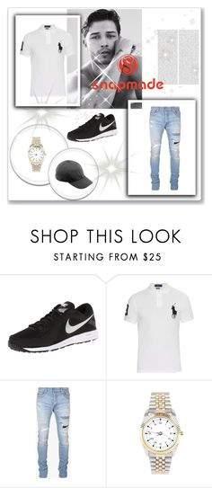 """""""3 #snapmade"""" by merymutapcic ❤ liked on Polyvore featuring NIKE, Oris, Polo Ralph Lauren, Balmain, men's fashion and menswear"""