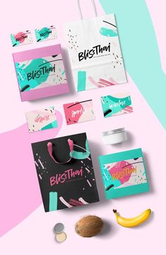 Bliss Thai Brand identity on Behance. Bright and Colourful Brand Inspiration For Elizebeth Ellery // Branding, Photography and Website Design Game Design, Logo Design, Poster Design, Brand Identity Design, Graphic Design Branding, Stationery Design, Web Design, Brochure Design, Design Art