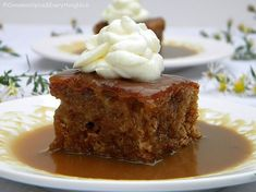 The British may not be known for having the best cuisine, but one thing they do well is dessert. This Old-Fashioned Sticky Toffee Pudding is proof of that. Gooey, soft and luscious, this date cake is smothered in a warm, stick toffee sauce. British Desserts, British Recipes, Köstliche Desserts, Delicious Desserts, Yummy Food, Holiday Desserts, Sweet Recipes, Cake Recipes, Dessert Recipes