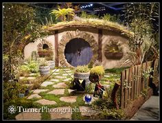 A Hobbit's New Zealand Garden: Middle-Earth meets the Arboretum's New Eco-Geographic Forest display garden. Northwest Flower & Garden Show, Seattle, WA. © 2013 Mark Turner