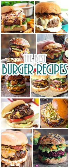 Hamburger Recipes - The BEST Collection of Burger Recipes - So many delicious recipes to choose from. Grab some ground beef - Your Next Barbecue will be LEGENDARY!
