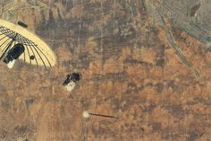 蓬生・ 蓬生 よもぎう 初夏のある雨上がりの月夜、源氏は惟光(これみつ)に露を払わせながら、荒れ果てた屋敷に立ちよる。そこは源氏の再来を待ち続けた末摘花の変わり果てた屋敷であった。 【国宝 平安時代 12世紀】