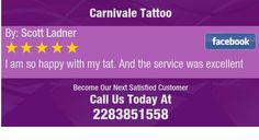 I am so happy with my tat. And the service was excellent