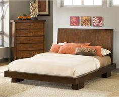 Stella Platform Bed - Truffle - Platform Beds at Hayneedle