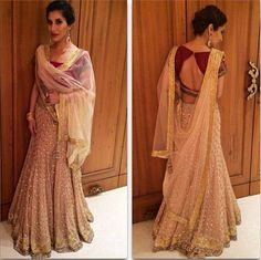 You Beauty: @Sophie_Choudry in exquisite @ManishMalhotra1 http://www.ManishMalhotra.in/landing/ #Lehenga Ensemble at Bachchan Family's 2014 Diwali Party