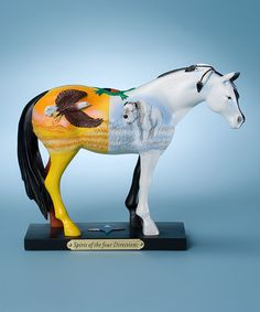 Take a look at this Four Directions Horse Figurine by The Trail of Painted Ponies on #zulily today!