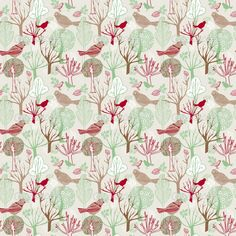 buy fabric with birds - Google Search