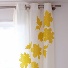diy embellished curtains - a bit time consuming but not difficult