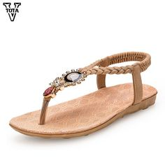 VTOTA Summer Bohemian Women Sandals Gladiator Shoes Woman Bead Flip Flop Metal Decoration Casual Slip On Sandalia Feminina QYXC. Yesterday's price: US $23.99 (19.79 EUR). Today's price: US $10.80 (8.89 EUR). Discount: 55%.