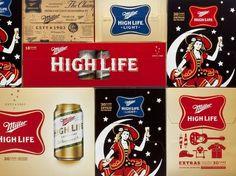 Landor San Francisco  New packaging program for Miller High Life.