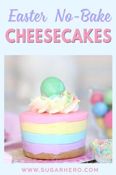 Easter no bake cheesecakes hundreds of people have made and loved this recipe! easy gorgeous and perfect for easter dinner you ll love it too! sugarhero eastercheesecake easterdessert 27 yummy easter dinner ideas to wow your guests Desserts Ostern, Köstliche Desserts, Delicious Desserts, Dessert Recipes, Recipes Dinner, Cupcake Recipes, Easter Cheesecake, No Bake Cheesecake, Cheesecake Recipes