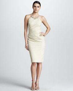 30708c33aee David Meister Beaded Jacquard Dress - Neiman Marcus  550 Neiman Marcus  Cocktail Dresses