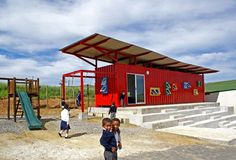 The container classroom project is built with a limited budget and so it is designed to maximize space but with the important elements including the learning areas, gathering area, play area, and the growing area.