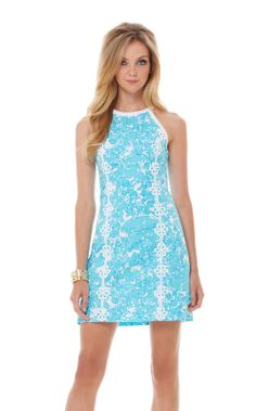 Lilly Pearl Halter Shift Dress - like this style but in a different print?